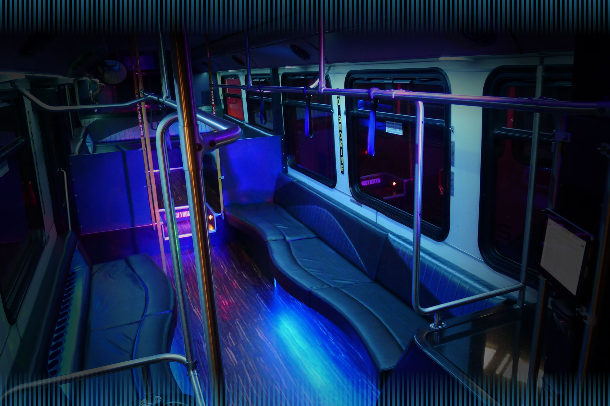 Inside of a Party Bus